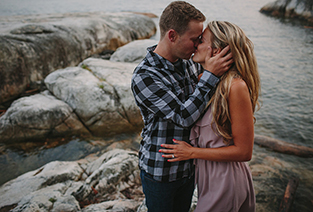 Lighthouse Park Engagement Session  //  Vancouver  //  Breanna + Allan